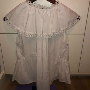 Sea New York Tops - Sea NYC white button down lizard collar blouse